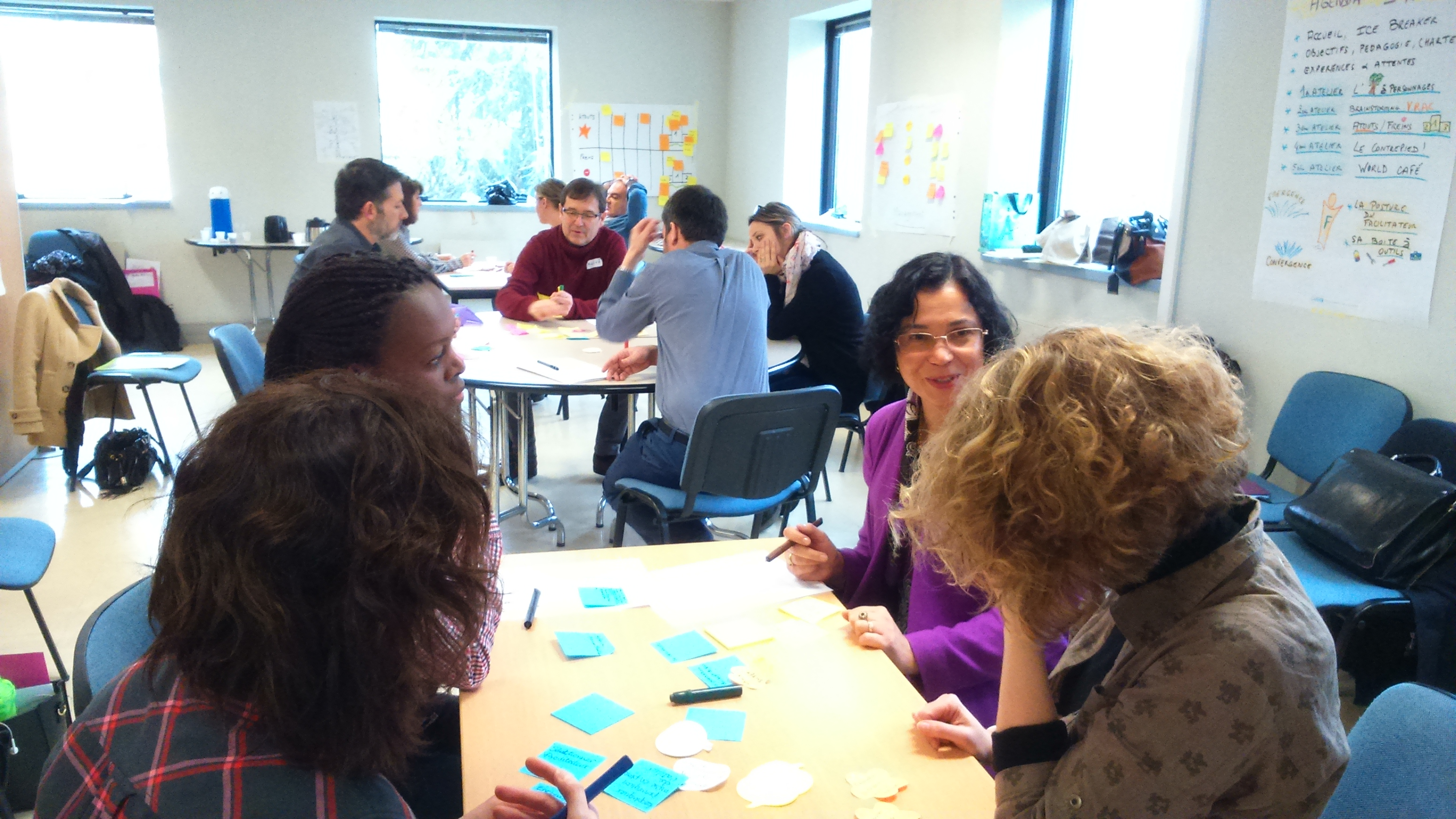 world café- intelligence collective-atelier collaboratif
